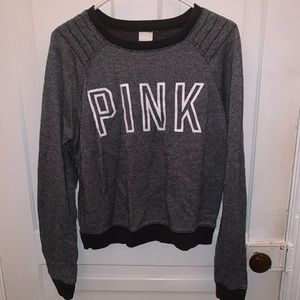 PINK Black/Gray Sweater, Size Extra Small